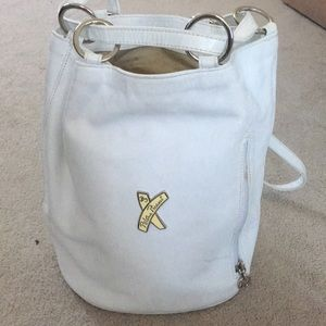 Paloma Picaso white leather backpack